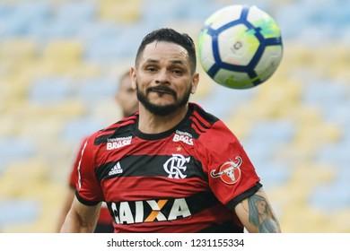 Rio de Janeiro, November 15, 2018. Football player Pará do Flamengo, during the Flamengo vs. Santos match for the Brazilian championship at the Maracanã stadium.