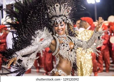 RIO DE JANEIRO, RJ /BRAZIL - FEBRUARY 09, 2013: Samba School parade in Sambodromo. Estacio de Sa during festival on february 09, 2013 in Rio de Janeiro.