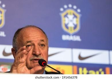RIO DE JANEIRO, RJ /BRAZIL - MAY 07:  National coach Luiz Felipe Scolari (Felipao) Announces Brazilian Squad for 2014 FIFA World Cup on may 07, 2014 at Vivo Rio in Rio de Janeiro Brazil.