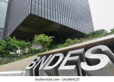 RIO DE JANEIRO, RJ, NOVEMBER, 6, 2018: BNDES (National Bank for Social Development) headquarters building in the center of the city of rio de janeiro