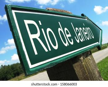 Rio de Janeiro  road sign