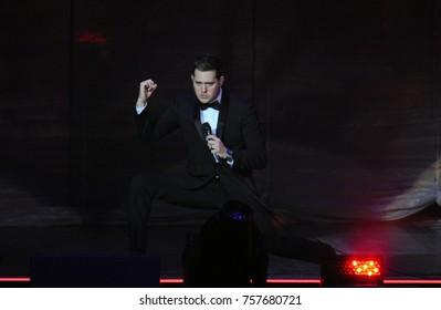 Rio de Janeiro, September 17, 2014. Singer Michael Bublé during his show at the HSBC Arena in Rio de Janeiro, Brazil
