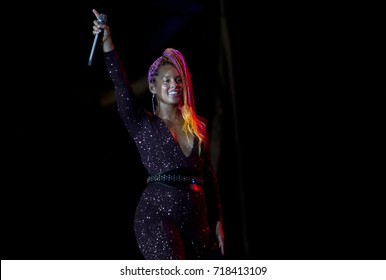Rio de Janeiro  September 17th, 2017    US singer Alicia Keys performs in the Rock in Rio concert