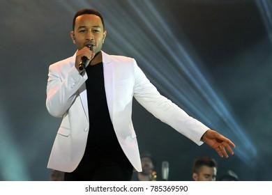 Rio de Janeiro, September 20, 2015, Singer John Legend, during his show at Rock in Rio 2015 in the city of Rio de Janeiro, Brazil