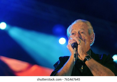Rio de Janeiro, September 21, 2013.  Harmonica player Charles Musselwhite, during the performance of their show at Rock in Rio 2013, in the city of Rio de Janeiro, Brazil.