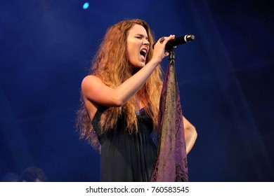 Rio de Janeiro, September 29, 2011. Singer Joss Stone, during the presentation of her show at Rock in Rio 2011, in the city of Rio de Janeiro, Brazil.