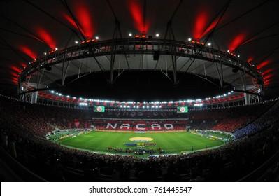 Rio de Janeiro, September 7, 2017. Maracana stadium full of Flamengo fans before the Flamengo vs. Rio de Janeiro Cup match in the city of Rio de Janeiro, Brazil.