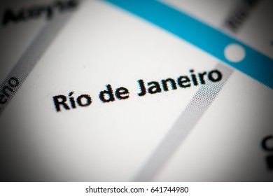 Rio de Janeiro Station. Buenos Aires Metro map.