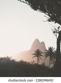 Rio de Janeiro Sunset Ipanema Morro Dois Irmaos Mountain