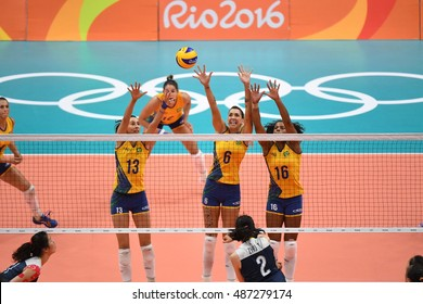 Rio de Janeiro-Brazil, 09 August 2016.Volley ball Brazil and China during the Olympic Games 2016
