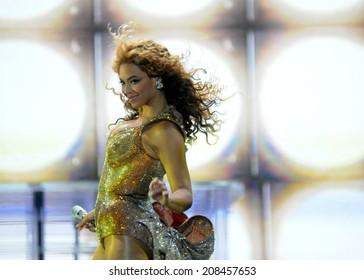 Rio de Janeiro-Brazil 18 october of 2011 show of BEYONCE, Hsbc arena