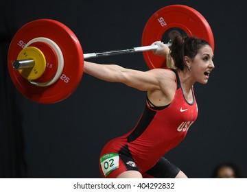 Brazilian female weightlifter
