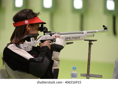 Rio de Janeiro-Brazil, April 16, 2016 Event sport shooting test for the 2016 Olympic Games