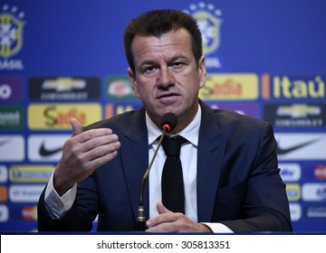 Rio de Janeiro-Brazil August 13, 2015, Dunga (coach of the Brazilian national soccer team) Brazilian team. in press coference