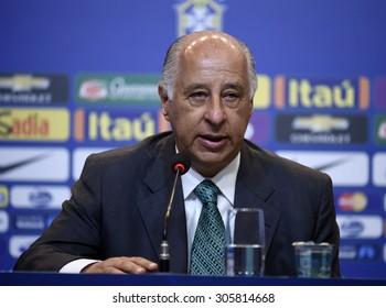 Rio de Janeiro-Brazil August 13, 2015, Del Nero ( President  CBF ) Brasilian  national soccer team . case number : 01851135