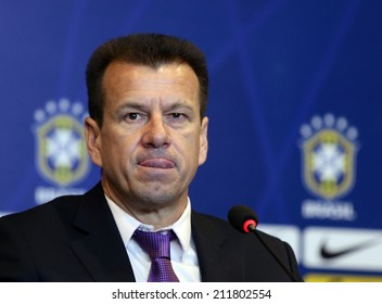 Rio de Janeiro-Brazil August 19, 2014, Dunga (coach of the Brazilian national soccer team) makes his first covoca�§�£odos players for the friendly matches of the Brazilian team. no use in brazil