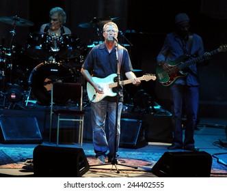 Rio de Janeiro-Brazil December 20, 2012- Eric Clapton in concert in Rio de Janeiro, at HSBC Arena