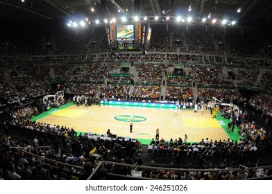 Rio de Janeiro-Brazil, January 15, 2015.HSBC Olympic Arena where will be played volleyball in the 2016 Olympics in Rio de Janeiro