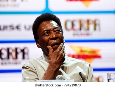 Rio de Janeiro-Brazil, January 15, 2018. Pelé, greatest soccer player of all time and chosen Ambassador of the Rio de Janeiro football championship. In the photo the retired player Pelé appears