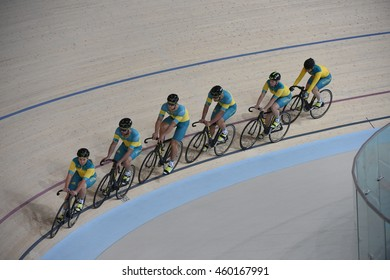 Rio de Janeiro-Brazil July 26, 2016 Australia's cycling team training for the 2016 Olympic Games