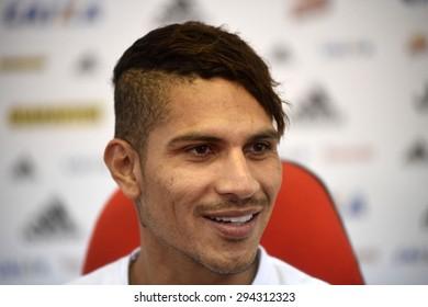 Rio de Janeiro-Brazil July 7, 2015, presentation of the new Flamengo soccer player - Paolo Guerrero