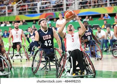 Rio de Janeiro-Brazil, September 16 , 2016 Paralympics Games 2016 Basketball USA and TURKY