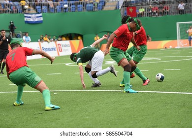 Rio de Janeiro-BRAZIL, September 17, 2016, paralympic soccer, Brazil and IRAN teams in the olympic park