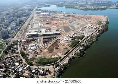 Rio de Janeiro-Brazil September 3, 2014 aerial photos of Barra daTijuca in the west of the city of Rio de Janeiro