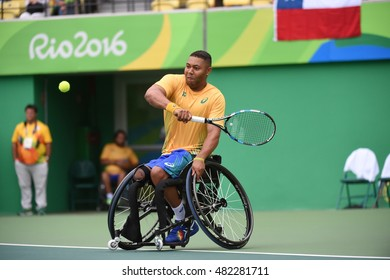Rio de Janeiro-Brazil, September 8, 2016 Paralympics Games in 2016, Brazil team tennis