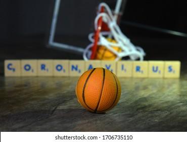 Rio de Janeiro-BrazilApril 17, 2020, Basketball around the world with the Coronavirus pandemic