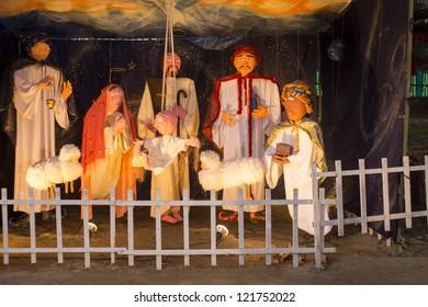 RIO DE JANEIRO-DEC11:Festival de Presepios(Event:Festival of Sables).Displays exhibit at Jardin de Alah Square at Rio de Janeiro.Event Festival de Presepios on Dezember11,2012,in Rio de Janeiro,Brazil