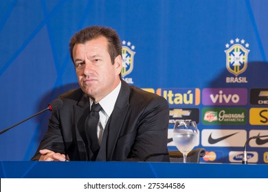 RIO DE JANEIRO/RJ, BRASIL - MAY 05, 2015 - Coach Dunga during convening of the brazilian national soccer team for the Copa America in Chile in June