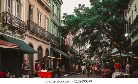 Rio de Janeiro/RJ/Brazil - 01/02/2015: Rua do Lavradio in the neighborhood of Lapa has the Old Rio Fair