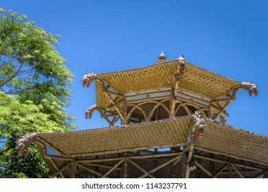 Rio de Janeiro/RJ/Brazil - 01-06-2016: Dome of the Chinese Vista, Chinese-style monument created in 1903, located in the Alto da Boa Vista neighborhood, within the Tijuca Forest