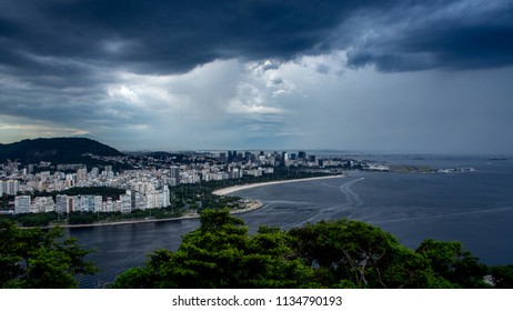 Rio de Janeiro/RJ/Brazil - 12-28-2015: Partial panoramic view of the city on a cloudy afternoon
