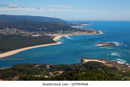 Rio Mi�±o estuary, the frontier between Spain and Portugal