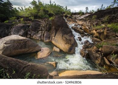 Rio Frio Waterfall in Mountain Pine Ridge, Belize Central America