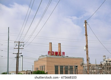 Rio Grande Power Plant in El Paso, Texas, USA, on July 3, 2017