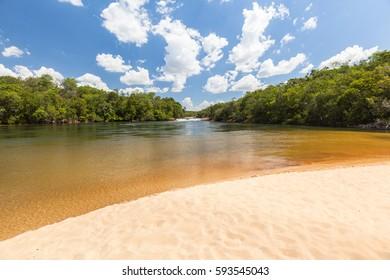 Rio Novo Beach - Jalapao - Tocantins - Brazil