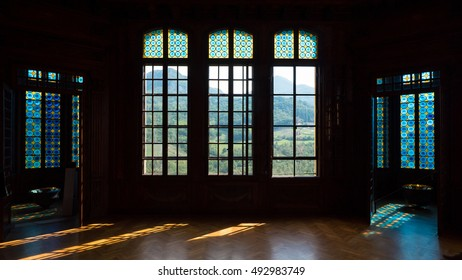 RIOLA, ITALY - OCTOBER 1, 2016: Interior view of Rocchetta Mattei castle. It was the house of Conte Cesare Mattei and it was built in the XIX century.