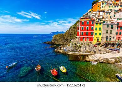 Riomaggiore, Cinqueterre, Cinque Terre National Park, liguria, italy