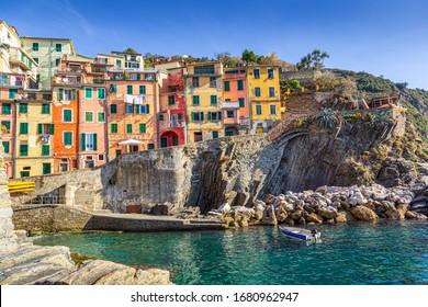 Riomaggiore village in Cinque Terre, Liguria, Italy