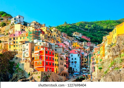 Riomaggiore is a village and comune in the province of La Spezia, Liguria, Cinque Terre Coast of northern Italy.