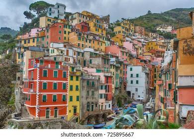 Riomagiore village of Cinque Terre in Italy.
