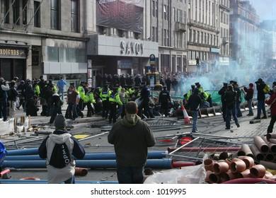 Rioting in Dublin 25th February, 2006