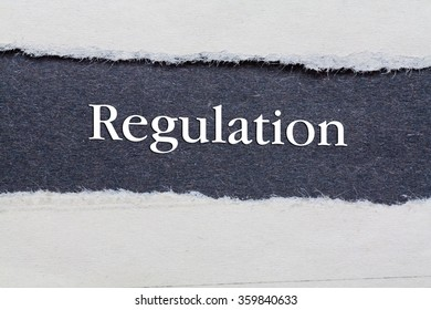 Rip Blue Paper and white background with regulation written on