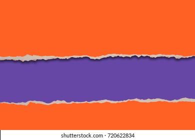 Rip Paper design in orange and purple colors