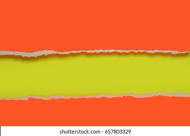 Rip Paper design in orange and yellow colors
