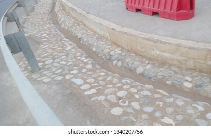 Rip rap works for storm water drainage system images and captured in Muscat oman