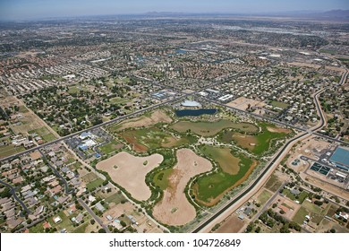 Riparian project and library in Gilbert, Arizona